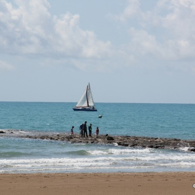 Benicassim Spain Beach and Boat