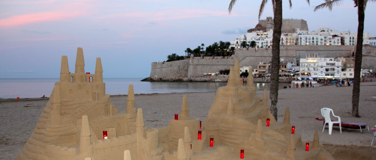 Peniscola Sand Castle and Real Castle At Dusk-11