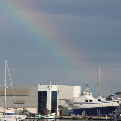 Benicarlo Rainbow over Harbour