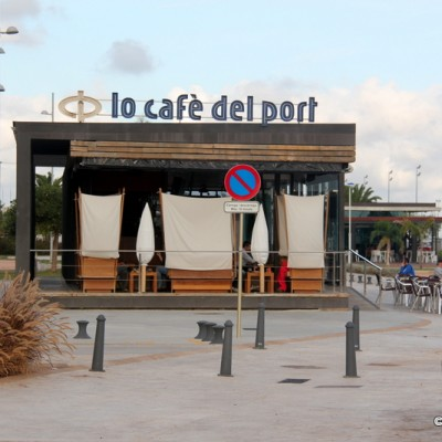 Sant Carles de la Rapita Cafe in Port