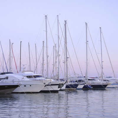 Cambrils Port Yachts At Dusk