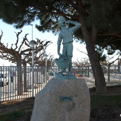 Cambrils statue by harbour