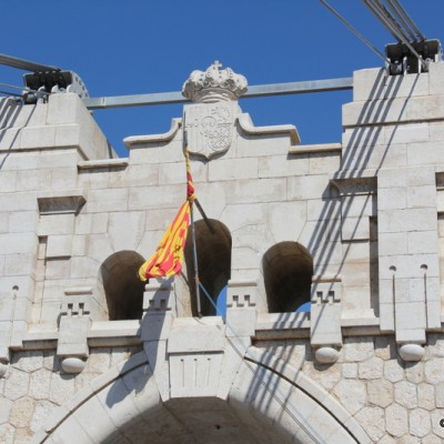 Amposta Bridge Catalonia Flag and Stonework