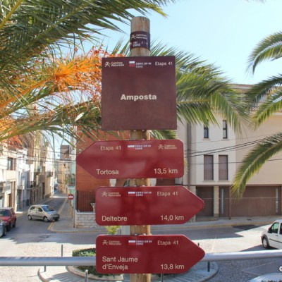 Amposta Street view and signposts