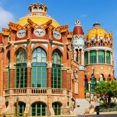 Hospital de Sant Pau by Catalan modernist architect by Lluis Domenech i Montaner in Barcelona. Spain ed1