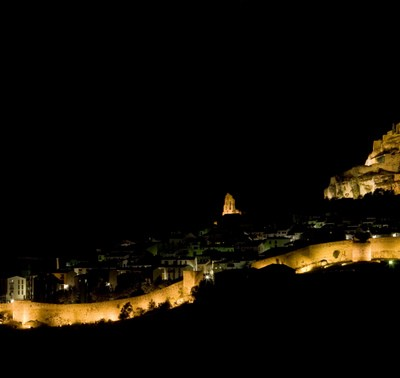 Morella At Night Castellon