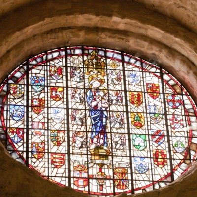 Poblet Monastery Catalonia Gorgeous Stained Glass Window