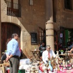 Tarragona Sunday Market Outside Cathedral