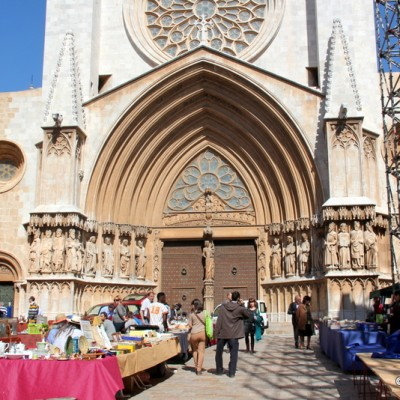Tarrragona Cathedral And Flea Market