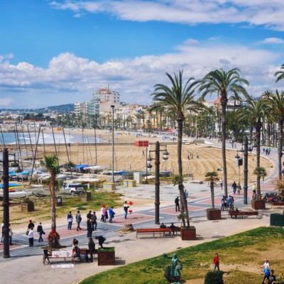 Sitges Aerial View Beach and Promenade ed5