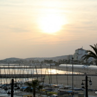 Sitges Beach At Sunset