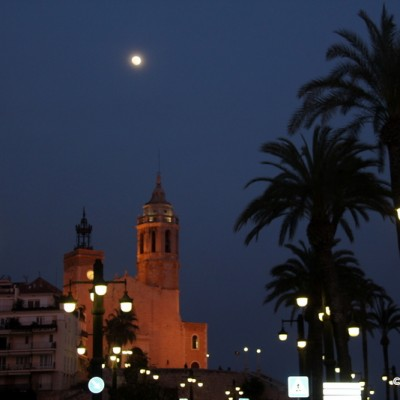 Sitges Church by Night