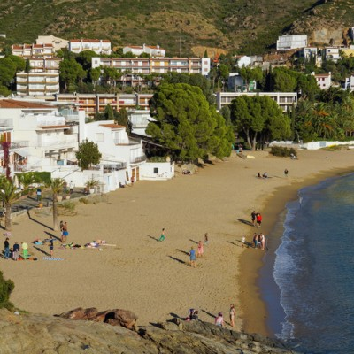 Roses Beach of L'Almadrava in Canyelles Grosses Costa Brava