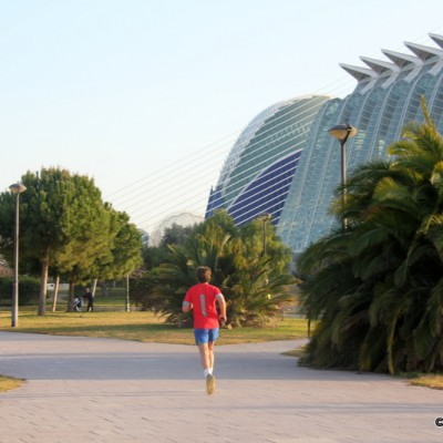 Runner Valencia City of Arts and Science Spain