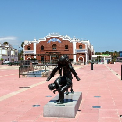 Castellon Port Statue and Casino