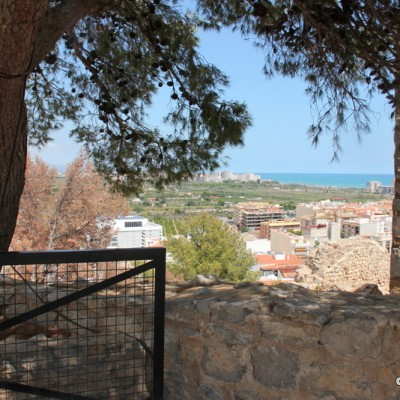 Oropesa Castle Views From Tree Over To The Sea
