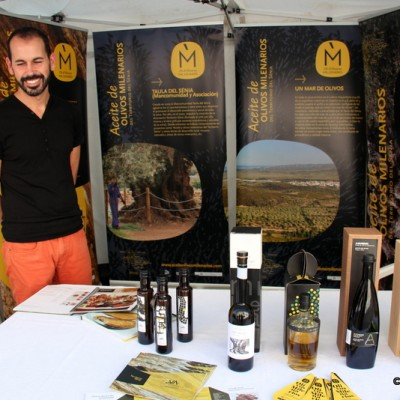 Olive Oil From Millenium Trees Stall San Rafael del Rio Artisan Market
