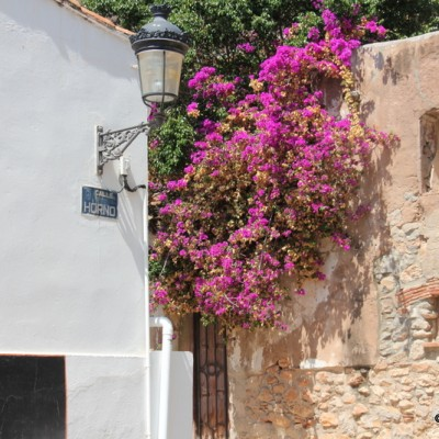 Oropesa del Mar Stone Walls and Flowers In The Old Streets