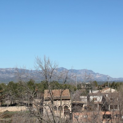 San Rafael del Rio view from back of village towards Catalonia