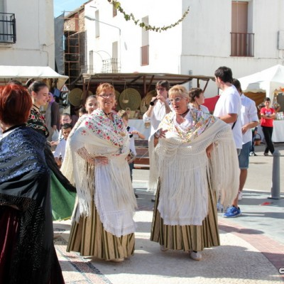 San Rafel del Rio Ladies Dancing in Costume to Launch Artisan Market Spain