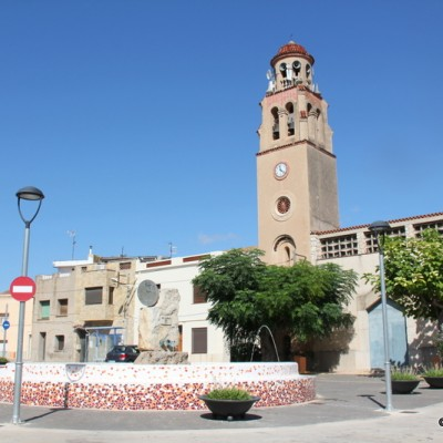 Sant Rafael del Riu Church Square