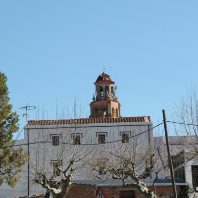 Sant Rafael del Riu village and church bell tower