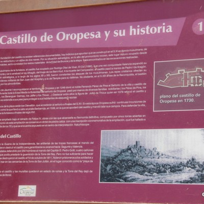 The Castle of Oropesa Plan in 1730