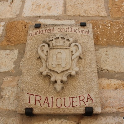 Traiguera City Hall Stone Emblem