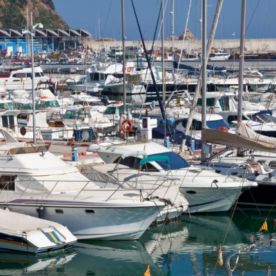 Blanes Harbour Full of Boats