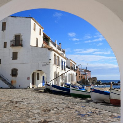 Calella de Palafrugell View Through An Arch