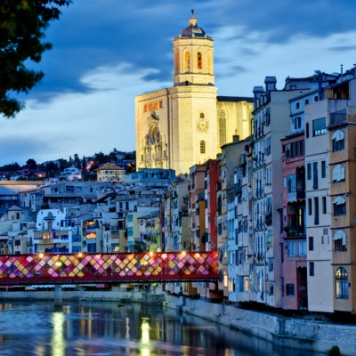 Girona Bridge Decorated Flower Festival 2013