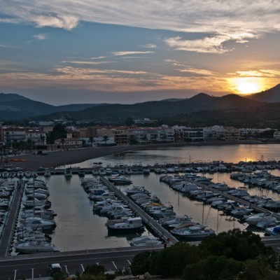 Llanca Port Sunset