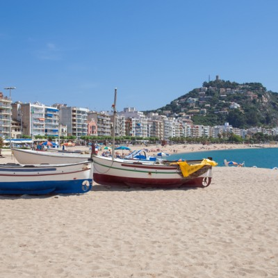 Village and Beach of Blanes Costa Brava