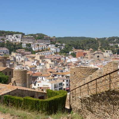 Old Town Tossa de Mar with Parish church from ancient fortress