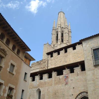 View of medieval quarter in Girona
