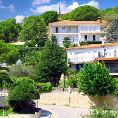 Calella Barcelona Houses and Trees