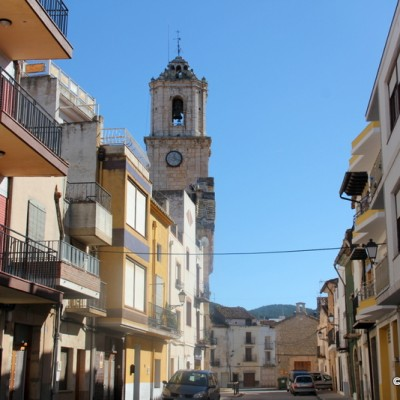 La Salzadella Street and Church Belltower