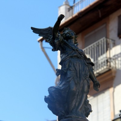 Sant Mateu Angel on Fountain