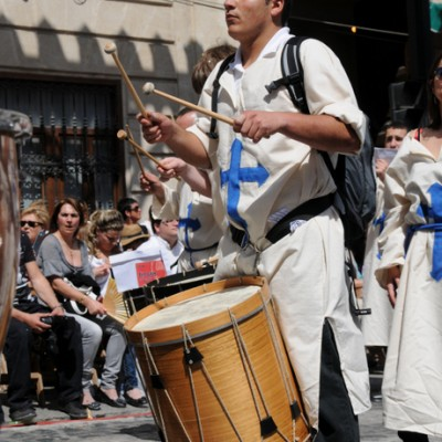 ed4 Alcoy Moors and Christians Spain Man Drumming