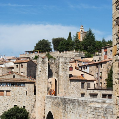 medieval town of Besalu in Catalonia