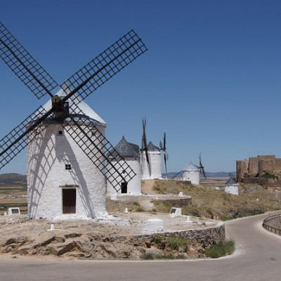 Consuegra Beautiful City Spain Windmills
