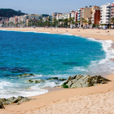 Lloret de Mar Beach and Town Views