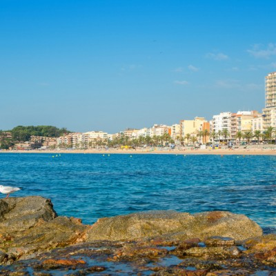 Lloret de Mar Costa Brava Town Views From The Sea