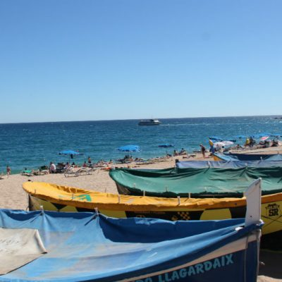 Lloret de Mar beach and boats