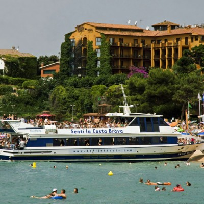 Lloret de Mar boat at beach