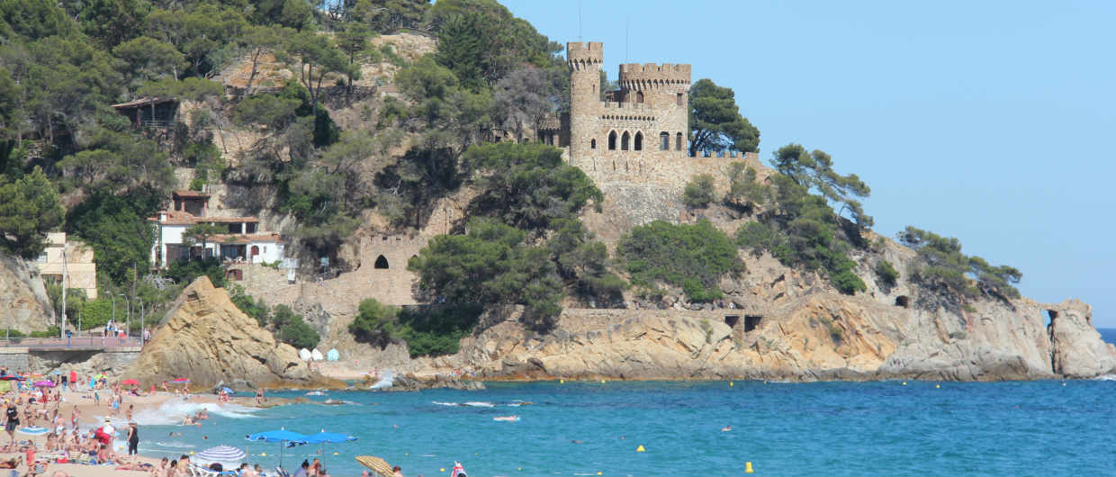 Lloret de Mar castle by the sea