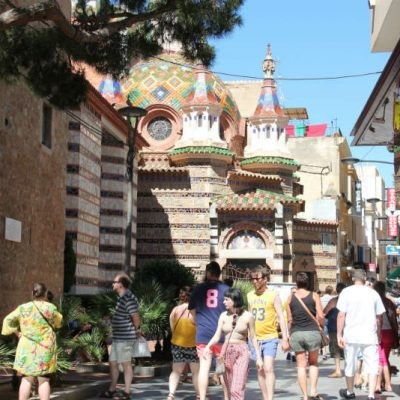 Lloret de Mar church and streets