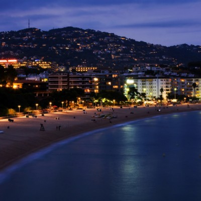 Lloret de Mar night at beach
