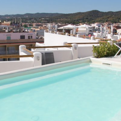 Rooftop pool and sun terrace Delamar Hotel Lloret de Mar Spain