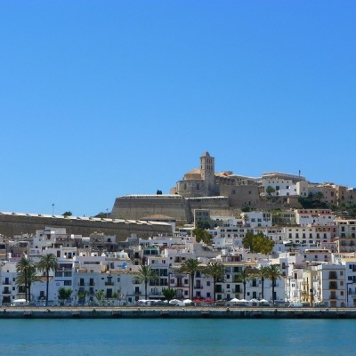 Ibiza town beautiful view